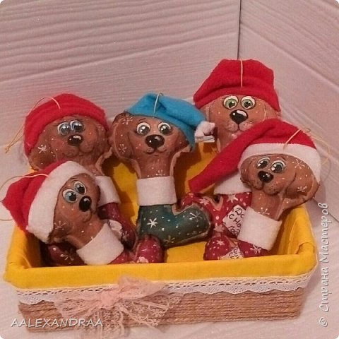 Всем привет! У меня снова Новогодние кофейные песики! фото 8