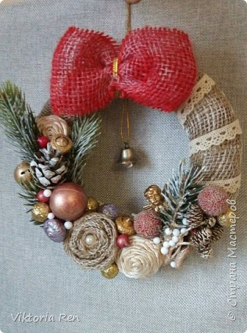 Здравствуйте!!! У меня сегодня небольшие рождественские веночки. фото 2
