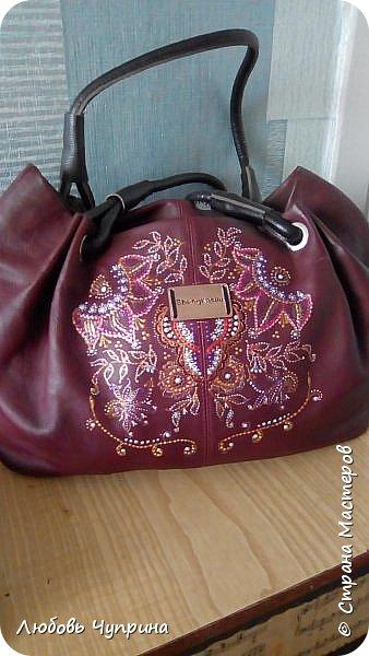 Роспись сумки фото 1