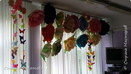 большие розы для украшения класса к дню рождения классного руководителя. фото 4
