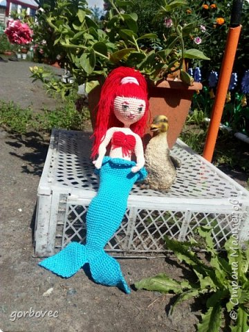 Эта куколка русалочка связалась еще летом для племянницы мужа. фото 2