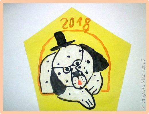 Продолжаем серию новогодних портретов, рисуем собачку. фото 36