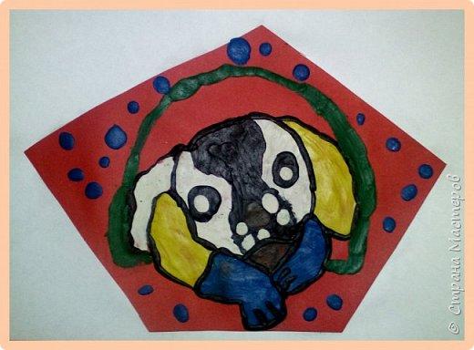 Продолжаем серию новогодних портретов, рисуем собачку. фото 35