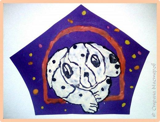 Продолжаем серию новогодних портретов, рисуем собачку. фото 34