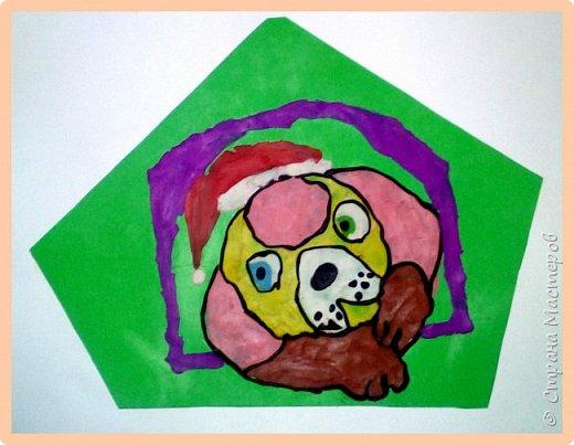 Продолжаем серию новогодних портретов, рисуем собачку. фото 32