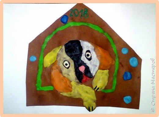 Продолжаем серию новогодних портретов, рисуем собачку. фото 30