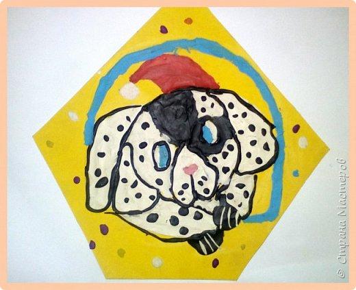 Продолжаем серию новогодних портретов, рисуем собачку. фото 28