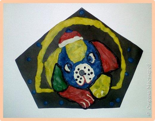 Продолжаем серию новогодних портретов, рисуем собачку. фото 27