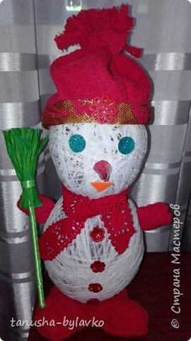 Новый год совсем скоро... и мне захотелось сделать несколько  снеговичков под елочку....вот такие милашки получились фото 3