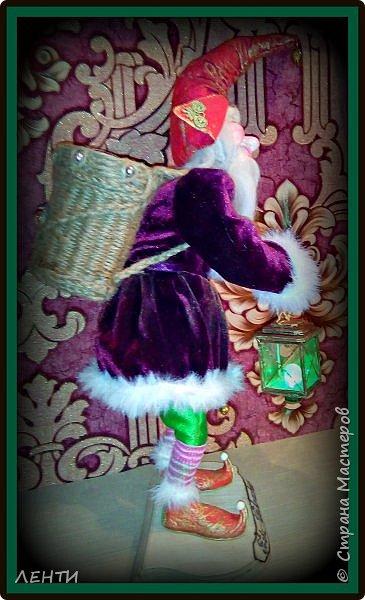 """Доброе утро, а может день или вечер...!!!!!!!!!! Дорогие друзья хотела поделиться с вами своей новой работой """" Рождественский гном"""" Времени совсем не остаётся на творчество, но иногда (когда уж совсем наступает тоска по куклам) всё же сажусь и занимаюсь своим любимым делом, как отдушина для души...  фото 3"""