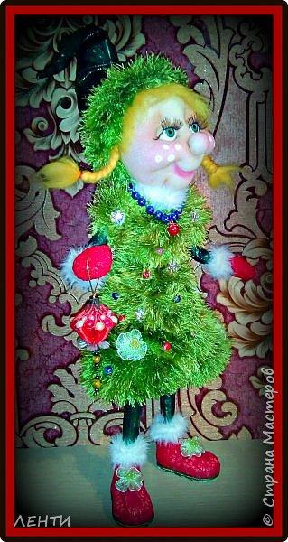 К новому году начинаешь готовится заранее. Это мой самый любимый праздник!!!!!!!! И мне захотелось сделать что то тёплое, мягкое и мультяшное. Вот так вот и родились мои Ёлочка и Снеговушечка )))  фото 6
