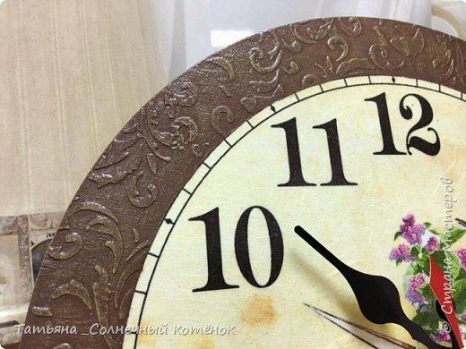 Часы для рукодельницы в технике декупаж фото 2