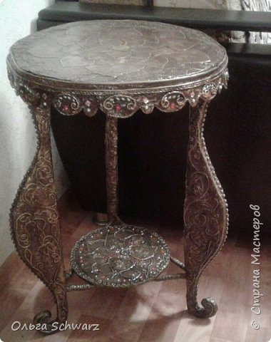 Привет, жители и гости Страны Мастеров! Давно была задумка, сделать чайный столик. фото 12