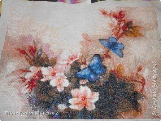 """Вышивка """"Бабочки в цветах"""", вышивка крестом """"Розы"""" фото 1"""