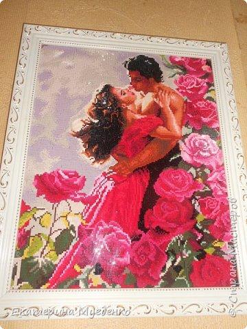 """Алмазная мозайка  """"Влюбленные в розовом саду"""""""