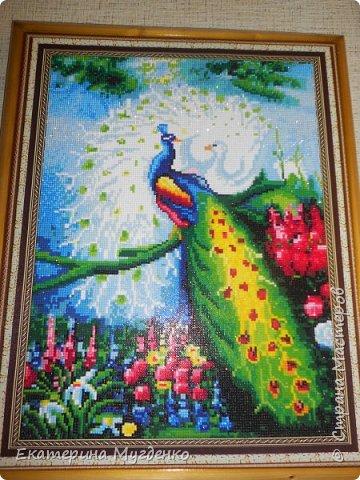"Алмазная мозайка ""Павлины"""