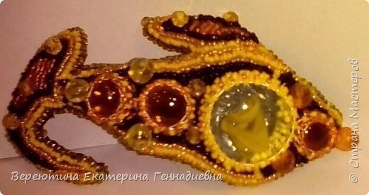 """Брошь """"Золотая рыбка"""" фото 1"""