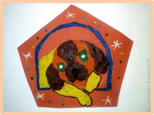 Продолжаем серию новогодних портретов, рисуем собачку. фото 39