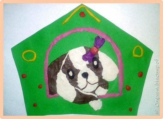 Продолжаем серию новогодних портретов, рисуем собачку. фото 40
