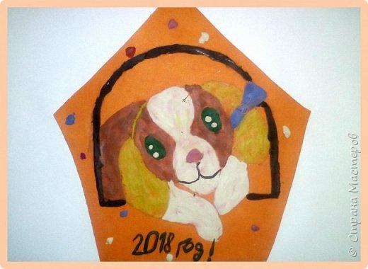 Продолжаем серию новогодних портретов, рисуем собачку. фото 43