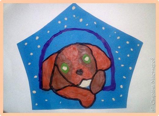Продолжаем серию новогодних портретов, рисуем собачку. фото 42