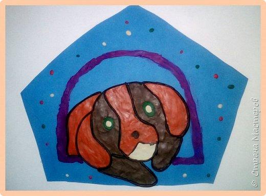 Продолжаем серию новогодних портретов, рисуем собачку. фото 38