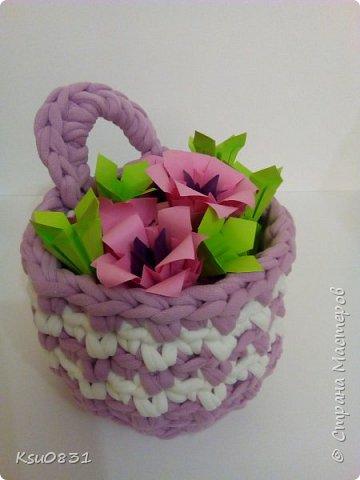 Основа ложная Электра 4х4, цветы розовый квадрат 8х8 середина 5х5, листья 7х7 фото 6