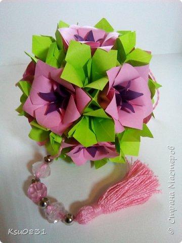 Основа ложная Электра 4х4, цветы розовый квадрат 8х8 середина 5х5, листья 7х7 фото 2