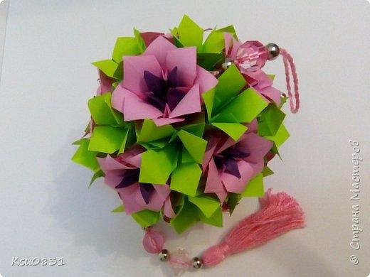 Основа ложная Электра 4х4, цветы розовый квадрат 8х8 середина 5х5, листья 7х7 фото 1