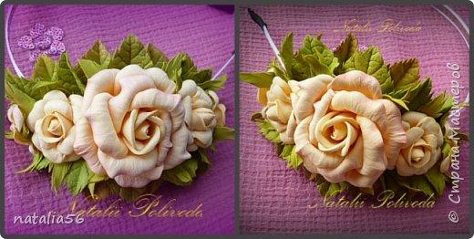 Всем ДОБРЫЙ ДЕНЬ!!! Давно здесь не была... Вот решила выставить свои работы из зефирного и Иранского фоамирана ... Приглашаю вас посмотреть и оценить мои цветочки для моих  внучек...  Все эти георгинки сделаны на резиночке из зефирного фома... Делала для моих дорогих внучек , которые живут в Туле...  фото 12