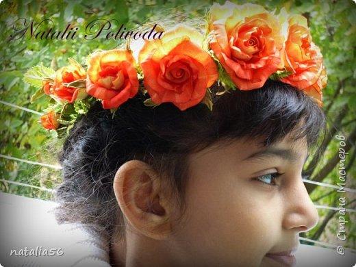 Всем ДОБРЫЙ ДЕНЬ!!! Давно здесь не была... Вот решила выставить свои работы из зефирного и Иранского фоамирана ... Приглашаю вас посмотреть и оценить мои цветочки для моих  внучек...  Все эти георгинки сделаны на резиночке из зефирного фома... Делала для моих дорогих внучек , которые живут в Туле...  фото 10