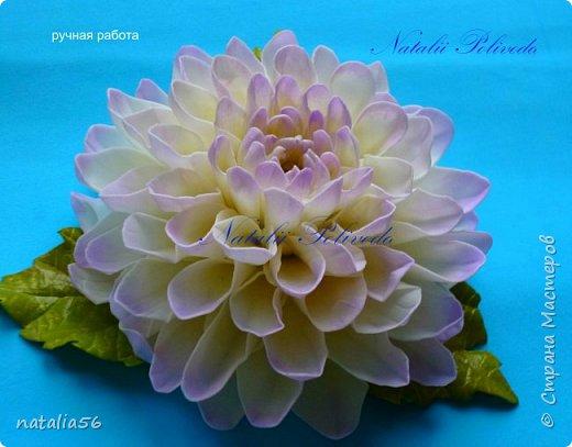 Всем ДОБРЫЙ ДЕНЬ!!! Давно здесь не была... Вот решила выставить свои работы из зефирного и Иранского фоамирана ... Приглашаю вас посмотреть и оценить мои цветочки для моих  внучек...  Все эти георгинки сделаны на резиночке из зефирного фома... Делала для моих дорогих внучек , которые живут в Туле...  фото 3