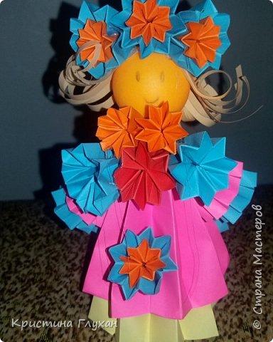 Кукла кусудама фото 3