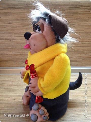 Привет,Страна Мастеров!!! Продолжаю шить маленьких собачек (рост 10 - 11 см) на подарочки. Этих первых двух сшила и сразу подарила.Людям радость,а мне приятно. фото 12