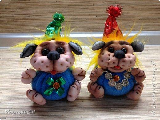 Привет,Страна Мастеров!!! Продолжаю шить маленьких собачек (рост 10 - 11 см) на подарочки. Этих первых двух сшила и сразу подарила.Людям радость,а мне приятно. фото 7