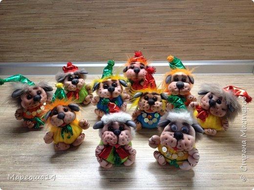 Привет,Страна Мастеров!!! Продолжаю шить маленьких собачек (рост 10 - 11 см) на подарочки. Этих первых двух сшила и сразу подарила.Людям радость,а мне приятно. фото 8