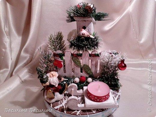 Доброго дня!!! Новогодняя композиция - подсвечник. фото 1