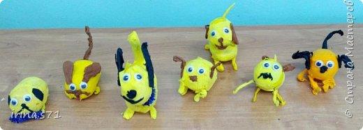 Вот такие забавные собачки - символы 2018 года у получились у ребят 9 лет.  фото 1