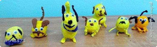 Вот такие забавные собачки - символы 2018 года у получились у ребят 9 лет.  фото 2
