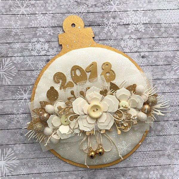 """Продолжаю сама готовиться к Новому году  и помогаю другим:)  Сегодня провела мк по открытке / карточка """" Новогодний шар"""".  фото 1"""