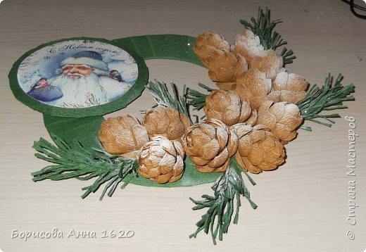 Здравствуйте, хочу поделиться идеей Новогодней поделочки. Работа выполнена по МК Alina2424, ей отдельное спасибо за отменное видео... фото 2