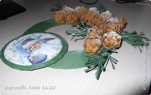 Здравствуйте, хочу поделиться идеей Новогодней поделочки. Работа выполнена по МК Alina2424, ей отдельное спасибо за отменное видео... фото 3