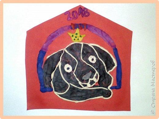 Продолжаем серию новогодних портретов, рисуем собачку. фото 45