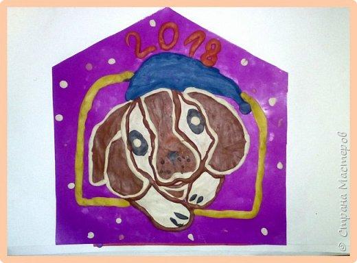 Продолжаем серию новогодних портретов, рисуем собачку. фото 47