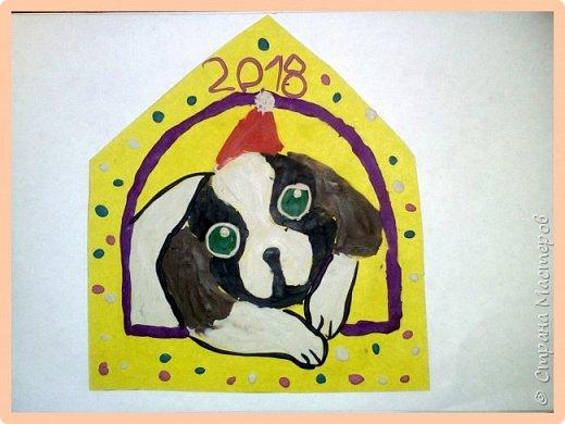 Продолжаем серию новогодних портретов, рисуем собачку. фото 49