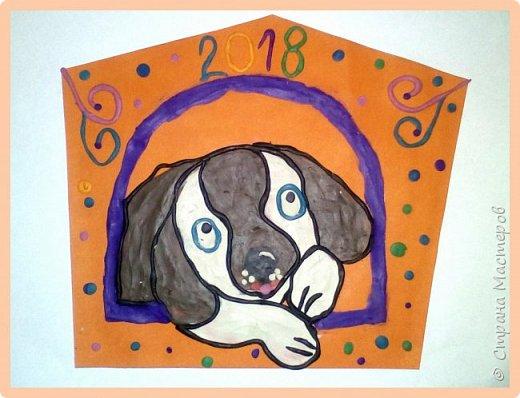 Продолжаем серию новогодних портретов, рисуем собачку. фото 50