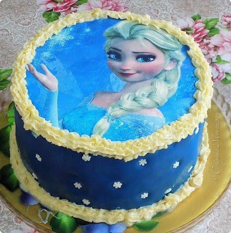 """Решила показать фото тортов. Первые два делались, так сказать для себя """"К чаю"""",  а с Эльзой делала в подарок"""