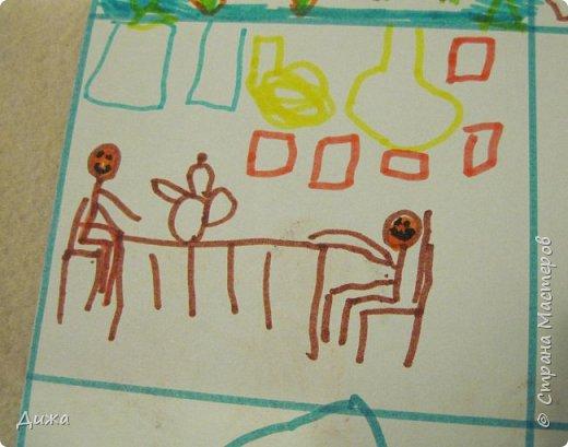 Всем большой пребольшой привет!!!!!!! У нашего папы был день рождения и я с братом подарили ему открытки.  Красную открытку сделала я фото 23