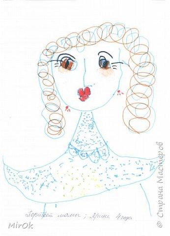 """Здравствуй """"Страна Мастеров"""" Хочу поделится рисунками своей дочки. Рисует она почти с пелёнок, ну 1,5 лет точно. Хочу показать вам некоторые рисунки: 1 Первый рисунок """"Сказки зимнего леса"""", рисовала в 10 лет в школу на конкурс, получила первое место. фото 10"""