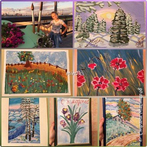 """Здравствуй """"Страна Мастеров"""" Хочу поделится рисунками своей дочки. Рисует она почти с пелёнок, ну 1,5 лет точно. Хочу показать вам некоторые рисунки: 1 Первый рисунок """"Сказки зимнего леса"""", рисовала в 10 лет в школу на конкурс, получила первое место. фото 20"""
